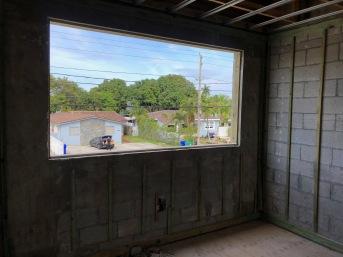 Openings showing window bucks