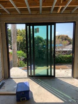Sliding door installed
